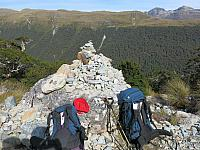 Cairn on McKellar saddle
